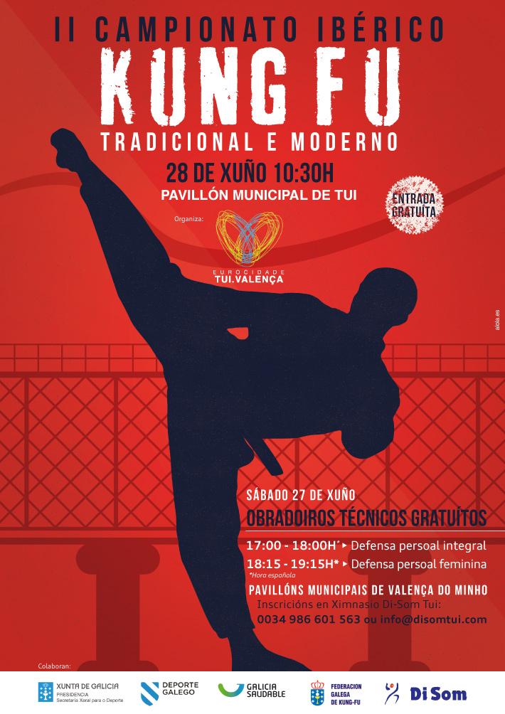 Cartel II Campeonato Ibérico de Kung Fu Moderno y Tradicional